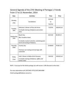 Partagas Programme English