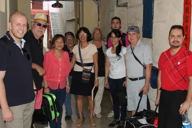 An international visit to the Sociedad Lung Kong in Havana…
