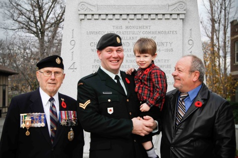 Four-generations picture, Remembrance Day (Nov 11, 2011)