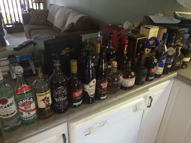 Rum Vertical Tasting En Route…