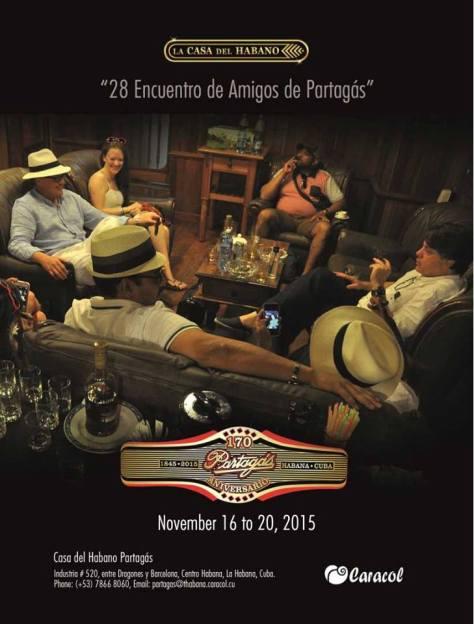 Nov 2015 Encuentros Partagas poster